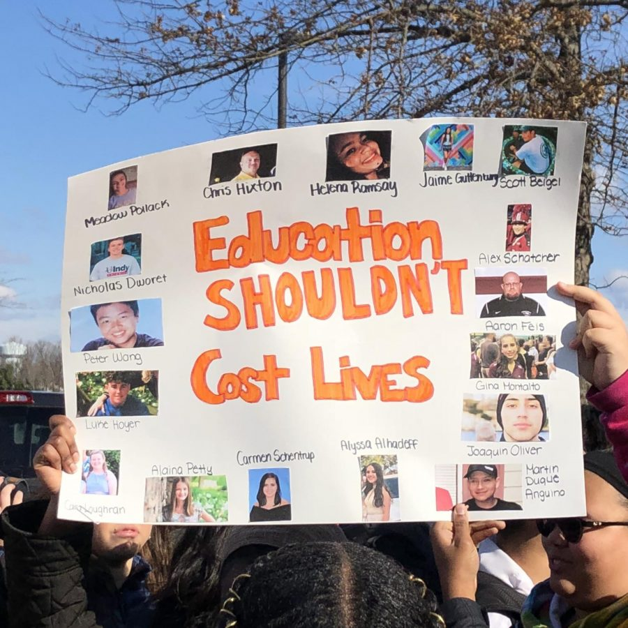 Hylton Students Commemorate Victims of School Shootings