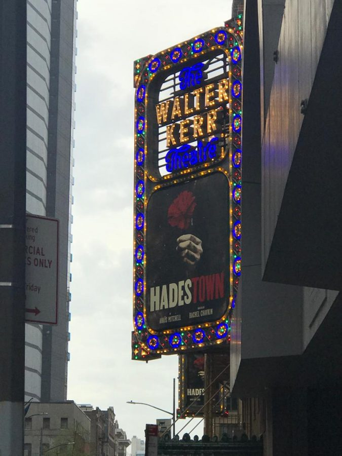 The+marquee+for+Hadestown+on+Broadway.