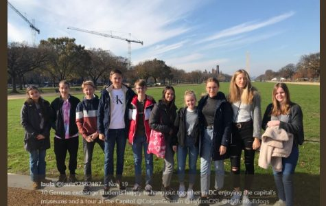 German exchange students along with students from Hylton and Colgan visiting Washington, DC