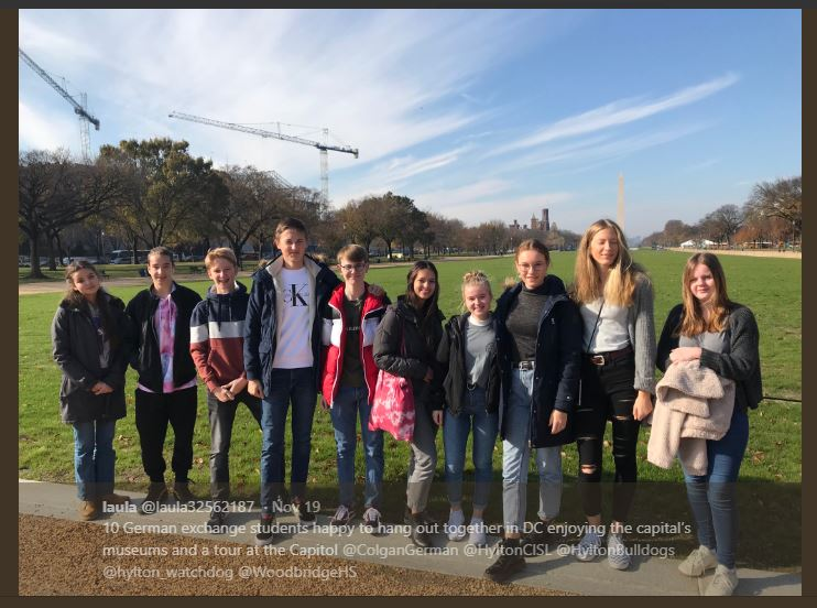 German+exchange+students+along+with+students+from+Hylton+and+Colgan+visiting+Washington%2C+DC